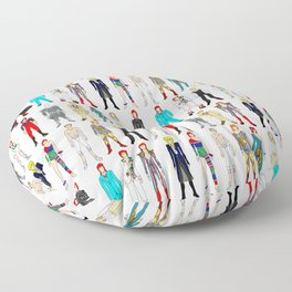 Retro Vintage Fashion 1 Floor Pillow