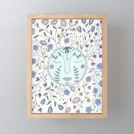 Chanson de la lune bleue Framed Mini Art Print