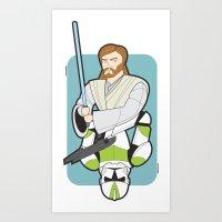 Obi-wan and Clone Trooper Art Print