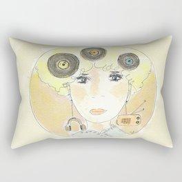 Thoughts at 45 rpm Rectangular Pillow