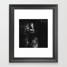 Falling in the darkness Framed Art Print