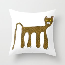 Squared Tiger Throw Pillow
