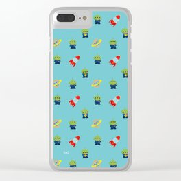 Aliens & Pizza Planet,Toy Story. Clear iPhone Case