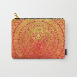 Aztec Flower Mandala Carry-All Pouch