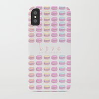 macaroon iPhone & iPod Cases featuring Love Macaroon by Praillustration