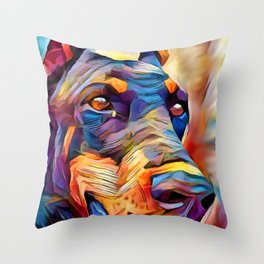 Doberman 2 Throw Pillow