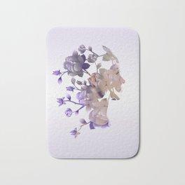 Flower Hair - Double Exposure Poster Bath Mat