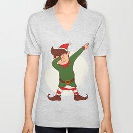 Elf Dabbing Unisex V-Neck