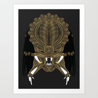 predator Art Prints featuring Predator by Nathan Owens
