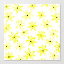 Yellow daisy flowers Canvas Print