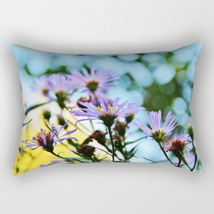 New York Aster in September Rectangular Pillow