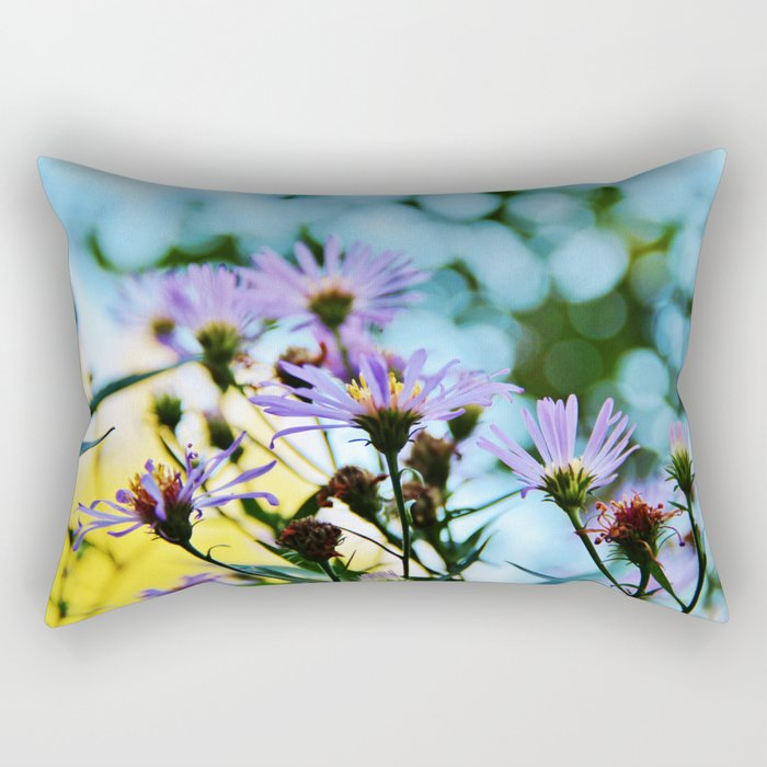 New York Aster in September Rectangular Pillow