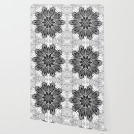 Beautiful Black White Flower Abstract Wallpaper