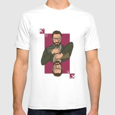 Walter white King of spades Mens Fitted Tee White MEDIUM