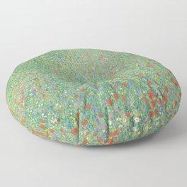 Gustav Klimt - Blühender Mohn Floor Pillow