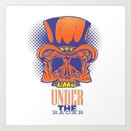 Under the radar  - skeleton Art Print