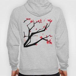 Cherry Blossom Geometric Hoody