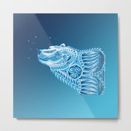 Polar Bear Totem Metal Print