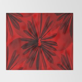 Red Origami Flowers #decor #society6 Throw Blanket