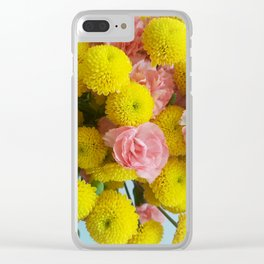 Yellow and Pink Bouquet Clear iPhone Case