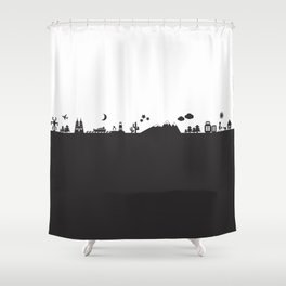 Find Your Angle_Travel_biColor Shower Curtain