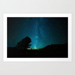 Milky Way Starry Night Photography Art Print