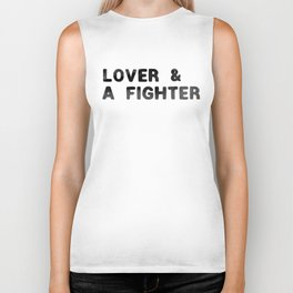 LOVER AND A FIGHTER - ink Biker Tank