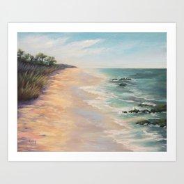 At high tide Art Print