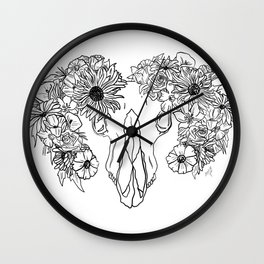 Life and Death (black) Wall Clock