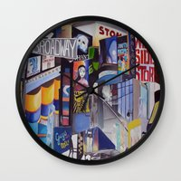 broadway Wall Clocks featuring Broadway by gretchenweidner.com