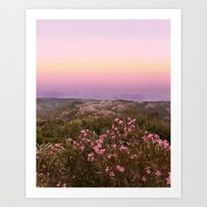 Purple sky Art Print