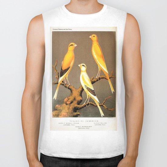 Orange Canaries  Biker Tank