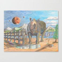 Rhino, Skaler aka General Tuff Canvas Print