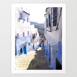 Alleys of Chefchaouen Art Print