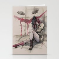 harley Stationery Cards featuring Harley by Alonzo Canto