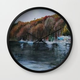 Harbor on the Thames River, CT Wall Clock