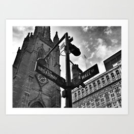 Broadway and Wall Street Art Print