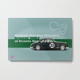 Jaguar MK2 at Brands Hatch Metal Print