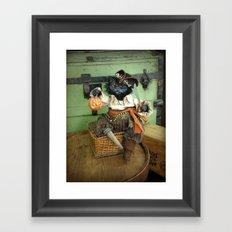 Rucus Studio Halloween Pirate Cat Framed Art Print