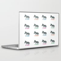 socks Laptop & iPad Skins featuring ZEBRA SOCKS by Patricia de Cos