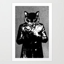 Cat Brasco - Furgeddaboudit Art Print