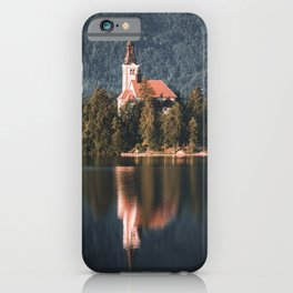 famous Church on the Island at Lake Bled iPhone Case