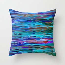 Rippling River Currents Throw Pillow