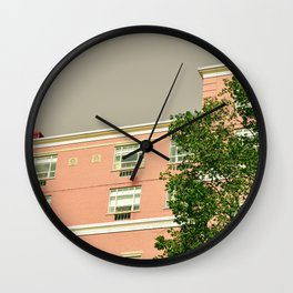 Pink Apartment House Wall Clock