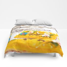 yellow decorative Easter cake Comforters