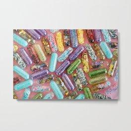 glitter pills Metal Print