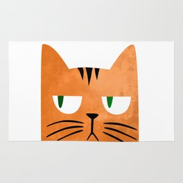 Orange cat with attitude Rug