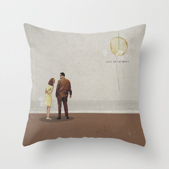 Last Day Of Magic | Collage Throw Pillow