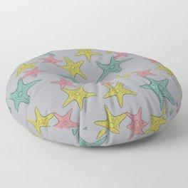 Starfish gray background Floor Pillow
