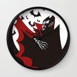evil vampire in the night Wall Clock